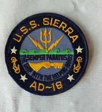 Vintage Fully Embroidered U.S.S. SIERRA AD-18 U.S.A Cloth Patch
