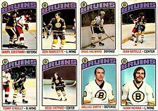 1976-77 O-PEE-CHEE BOSTON BRUINS LOT (8) Different Vintage NHL Hockey Cards BV