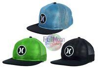 New Hurley Malibu Trucker Mesh Snapback Cap Hat