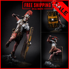 1/24 75mm Resin Figure Model Kit Roman Soldier with Shield Unassembled Unpainted
