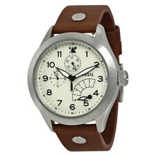 Fossil Aeroflite CH2938 Men's Multifunction Watch With Brown Leather Strap