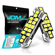 JDM ASTAR 4x 15-SMD 42mm White LED License map dome door Lights Bulbs 211-2 578