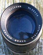 Vintage Sands Hunter 135mm f1:2.8 Auto-Tele M42 Fitting Lens (Slight misty on re