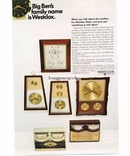 1967 Westclox Weather-Mates Clock Barometer Thermometer Hygrometer Vtg Print Ad