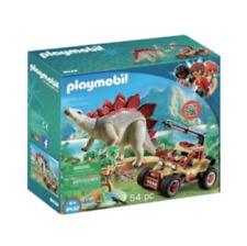 Playmobil 9432 Dinosaur Explorer Vehicle with Stegosaurus Building Set, 54 pc