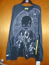 """M&S Star Wars Rogue One 100% Cotton L/Sleeved Top 15-16yrs Ch 37"""" Grey Mix BNWT"""
