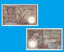 Belgian Congo 1000 Francs Kinshasa 03.11.1920.  UNC -Reproductions
