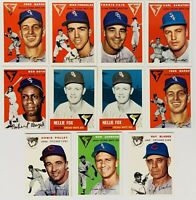 (11) 1953-54 Topps Archives Reprint Baseball Card Lot Nellie Fox Bob Boyd