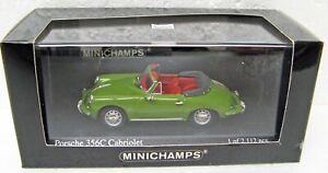 1965 Porsche 356 C Cabriolet green 1/43 Minichamps 430 062337 MB