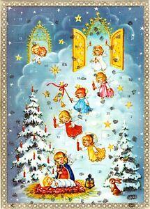 Vintage Advent Christmas Calendar Kruger Angels