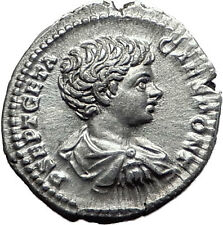 GETA 200AD Rome Silver Genuine Authentic Ancient Roman Coin Spear  i61518