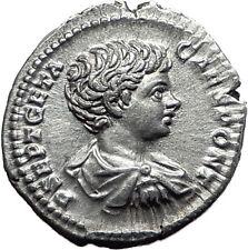 GETA 200AD Rome Silver Genuine Authentic Ancient Roman Coin Spear  i61518