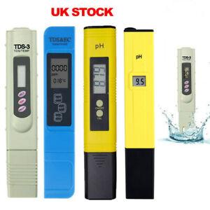 Digital PH Meter + LCD TDS EC Water Purity Hydroponic Water Tester Pen UK