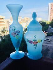 ✅ Vecchi vasi di Murano originali anni 50 bel colore azzurro