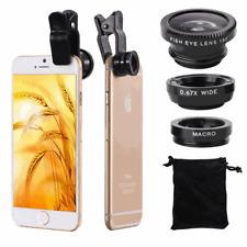 3 in 1 Handy Kamera Fischaugenobjektiv Weitwinkel Makro Halterung Halter Clip