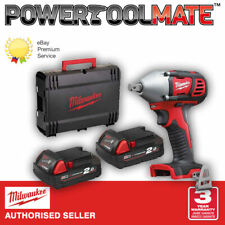 Milwaukee M18BIW12-202C 18v Compact 1/2in Impact Wrench 2 x 2.0ah