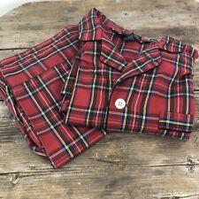 Diplomat Mens Tartan Plaid Pajamas Set Nightwear Sleepwear Sz XL
