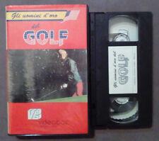 VHS FILM Ita GLI UOMINI D'ORO DEL GOLF ben hogan nicklans ex nolo no dvd(VH63)