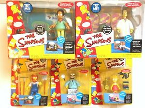LOT OF PLAYMATES THE SIMPSONS INTERACTIVE FIGURES AND SCENES