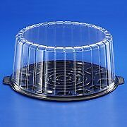 Cake Clear Container Dome and Base Carry & Display Storage Box  4pack