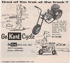 1960 GO-KART CYCLE / MINI-BIKE ~ ORIGINAL SMALLER PRINT AD
