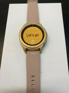 Samsung Galaxy (SM-R810) 42mm Gold Rose Smart Watch - (Clearance Deal!)