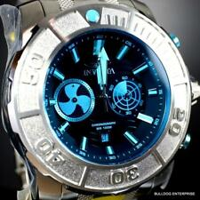 Invicta Coalition Forces Sonar Radar Stainless Steel Blue 58mm Chronograph New
