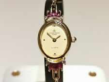 """VINTAGE NICE FRANCE LADIES GOLD PLATED QUARTZ WATCH """"CHRISTIAN BERNARD""""WITH RUBY"""