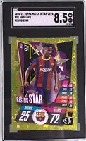 Ansu Fati 2020-21 Topps Match Attax UEFA Rising Star Gold Foil SGC 8.5