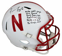 "Nebraska Tommie Frazier ""Career Stat"" Signed Full Size Speed Rep Helmet BAS"