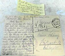 FELDPOST WW2 POSTCARD LAZARETT BAD MERGENTHEIM 1942 STAMP