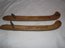 Pair of Vintage Wooden Ice Skate Blade Covers Jay Wilkie