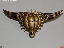 steampunk goth brooch badge bronze cog gear flying wings balloon airborne pilot