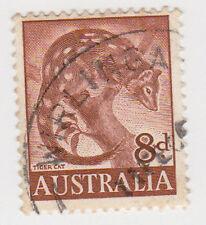 (W1377) 1959 AU 8d brown tiger cat (F)