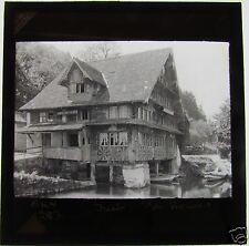 Glass Magic Lantern Slide RIVERSIDE HOUSE TRIEB ? (SEE PHOTO 2) C1900 GERMANY