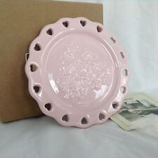 1 Pink Sweetheart Plate Tapas Candle Holder Dessert Many Uses Longaberger New