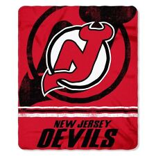 "New NHL New Jersey Devils Large Soft Fleece Throw Blanket 50"" X 60"""