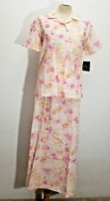 Crazy Horse Brighten Up Womens Dress Sz S 6 Linen Blend Floral 2pc Set Career