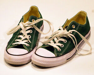 Converse Chuck Taylor Unisex Mens 5.5 Womens 7.5 Gloom Green Low Top