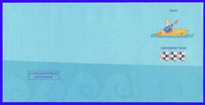 GREECE 2003 MASCOT & OLYMPIC GAMES PREPAID ENVELOPE CANOE/KAYAK SLALOM