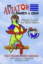 New listing The Aviator Bird Harness Parrot Leash Training Harness Petite Size Color Black