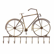 VINTAGE BICI BICICLETTA KEY HOLDER Storage GANCI MONTATO A PARETE RACK DI METALLO STAFFA