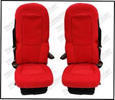 SCANIA 4 Velour seat covers in Rosso [CAMION RICAMBI E ACCESSORI]