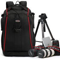 "Waterproof Nylon DSLR Canon Nikon Sony Camera Backpack bag 14"" Laptop Bag Padded"