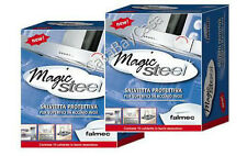 MAGIC STEEL FALMEC 20 SALVIETTE 2 SCATOLE PROTEZIONE PULIZIA ACCIAIO CLIN CLIN ì