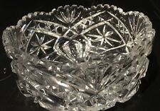 Vint Genuine Lead Crystal Made In Western Germany Dessert Bowl Hand Cut *