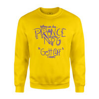 Prince and the NPG Gett Off Sweatshirt Men's Long Sleeve Crew Neck Yellow