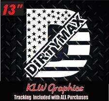 Dirtymax Duramax Diesel Truck 1500 2500 American Flag Stars vinyl sticker Decal