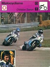FICHE CARD:Christian Sarron (18) France Motorcycle Road racer MOTORCYCLING 1970s