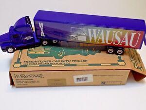 1995 ERTL COLLECTIBLES 1/64 FREIGHTLINER HTA WAUSAU 25041 W/ORIGINAL BOX